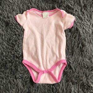 5/$25 MINI MUFFIN pink on pink onesie